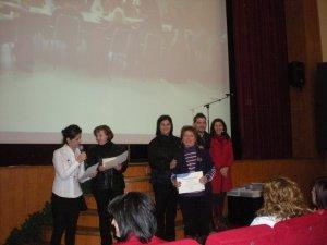 Entrega de diplomas. Taller Carmen de Burgos